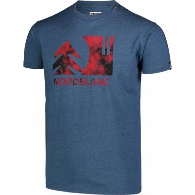 Pánské bavlněné triko Nordblanc TREETOP modré NBSMT7399_SRM, Nordblanc