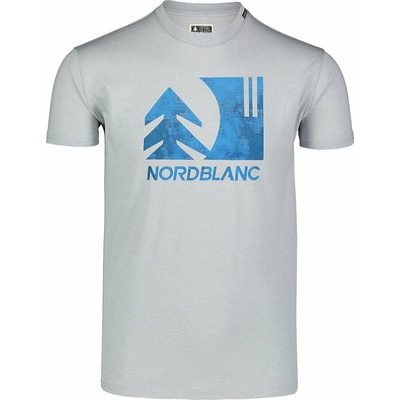 Pánské bavlněné triko Nordblanc TREETOP šedé NBSMT7399_SSM