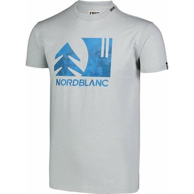Pánské bavlněné triko Nordblanc TREETOP šedé NBSMT7399_SSM, Nordblanc