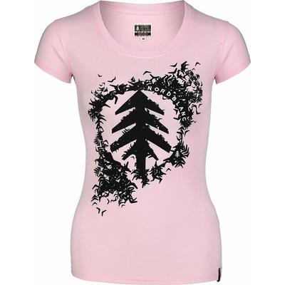 Dámské bavlněné tričko NORDBLANC Flock růžová NBSLT7401_RUT