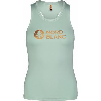 Dámské fitness tílko Nordblanc Balm zelené NBSLF7446_JMZ