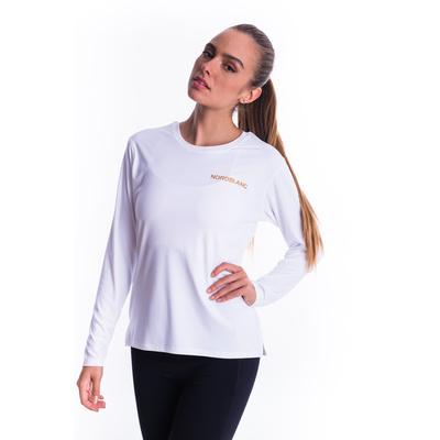 Dámské fitness tričko Nordblanc Clash bílé NBSLF7448_BLA, Nordblanc
