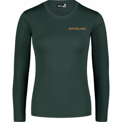 Dámské fitness tričko Nordblanc Clash zelené NBSLF7448_TZE