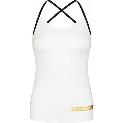 Dámské fitness tílko Nordblanc Strappy bílé NBSLF7449_BLA, Nordblanc