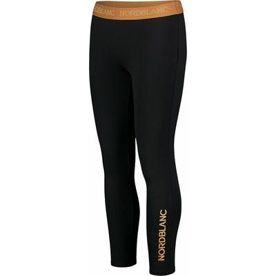 Dámské fitness legíny Nordblanc Flexibility černo-oranžová NBSPL7454_CRN, Nordblanc