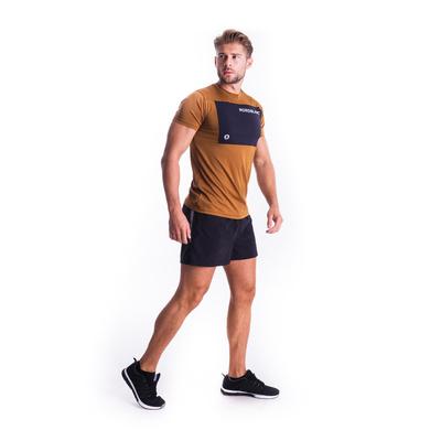 Pánské fitness tričko Nordblanc Grow hnědé NBSMF7460_PUH , Nordblanc