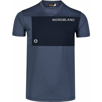Pánské fitness tričko Nordblanc Grow modré NBSMF7460_SRM, Nordblanc