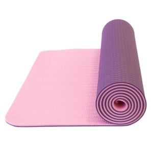 Podložka na jogu Yate YOGA MAT DVOUVRSTVÁ tmavě fialová/růžová, Yate