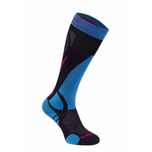 Ponožky Bridgedale Ski Lightweight Women's black/blue/007