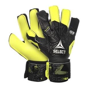 Brankářské rukavice Select GK gloves 03 Youth Flat cut černo žlutá, Select