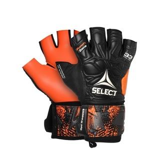 Brankářské rukavice Select GK gloves Futsal Liga 33 Negative Cut černo oranžová, Select