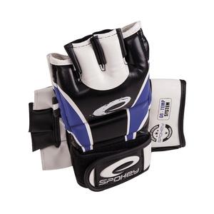 Kožené rukavice na MMA Spokey JUNYO modré, Spokey