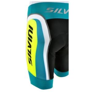 Pánské cyklistické kalhoty Silvini MERRE MP605 ocean-neon