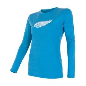 Dámské triko Sensor Merino Wool PT Feather modré 16100077, Sensor