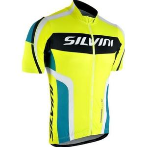 Pánský cyklistický dres Silvini LEMME MD603 neon-ocean, Silvini