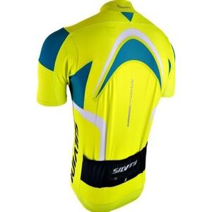 Pánský cyklistický dres Silvini LEMME MD603 neon-ocean