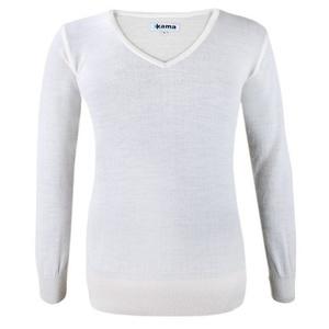 Dámský svetr Kama 5101 101 přírodně bílý, Kama