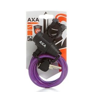 Zámek AXA Zipp 120/8 klíč fialová 59712096SC, AXA