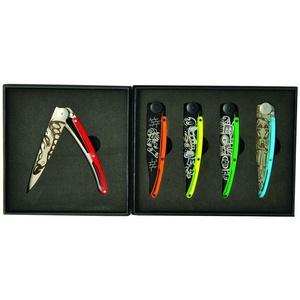Deejo sada 5 nožů Tattoo Street 37G DEE037, Deejo