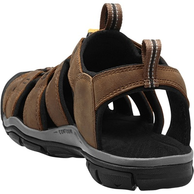 Sandály Keen CLEARWATER CNX Leather Men dark earth/black, Keen