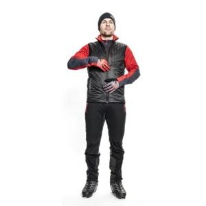 Pánská vesta Silvini TICINO MJ1104 black-red, Silvini
