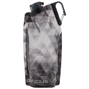 Láhev Platypus DuoLock SoftBottle Gray Prisms 1 l, Platypus