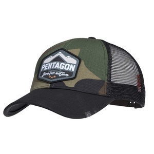 Kšiltovka Era Trucker Born for action PENTAGON® US woodland, Pentagon