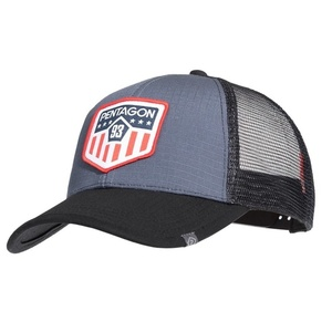 Kšiltovka Era Trucker US Flag PENTAGON® Wolf Grey, Pentagon
