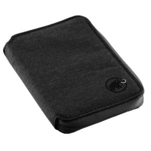 Peneženka MAMMUT Zip Wallet Mélange Black 0001, Mammut