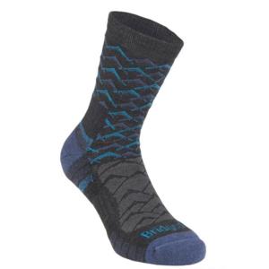 Ponožky Bridgedale Hike Lightweight Merino Performance Ankle dark grey/blue/126, bridgedale