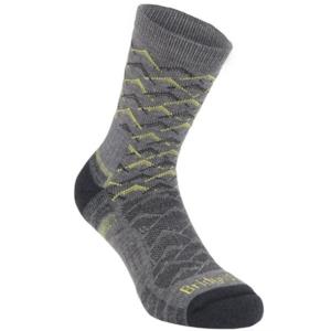 Ponožky Bridgedale Hike Lightweight Merino Performance Ankle grey/lime/118, bridgedale