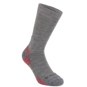 Ponožky Bridgedale Hike Lightweight Merino Performance Boot grey heather/124, bridgedale