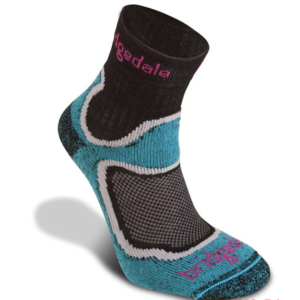Ponožky Bridgedale Trailsport Lightweight T2 Merino Cool Comfort Crew Women's turquoise/413, bridgedale