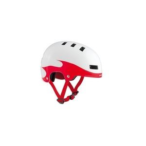 Dětská helma MET YOYO plameny/červená/bílá, Met