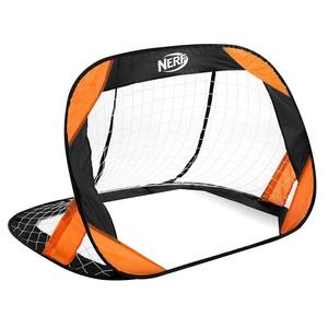 Samorozkládací fotbalová branka Spokey HASBRO BUCKLER NERF 2 ks černo-oranžová, Spokey