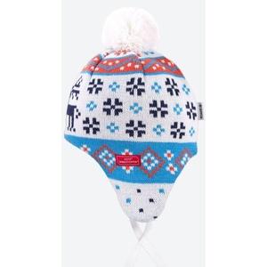 Dětská pletená Merino čepice Kama BW19 101 bílá