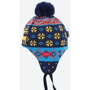 Dětská pletená Merino čepice Kama BW19 108 modrá, Kama