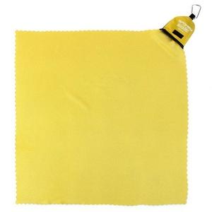 Rychleschnoucí ručník Spokey NEMO 40x40 cm žlutý s karabinouu, Spokey
