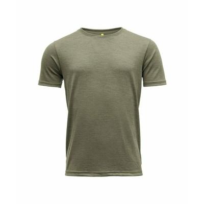 Pánské vlněné tričko s krátkým rukávem Devold Eika GO 181 280 B 404A zelená, Devold