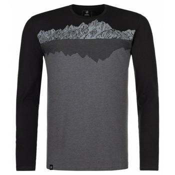 Pánské tričko s dlouhým rukávem Kilpi DRUMON-M tmavě šedá