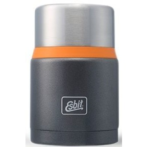 Vakuová termoska na jídlo z nerez oceli Esbit Lux s lžičkou 0,75 l Grey/Orange FJ750SP-GO
