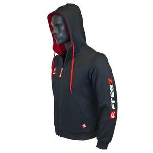 Sportovní mikina FREEZ VICTORY ZIP HOOD black/red junior, Freez