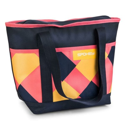 Termo taška malá Spokey ACAPULCO růžovo-modro-žlutá