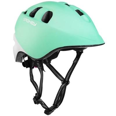 Dětská cyklistická přilba Spokey CHERUB IN-MOLD, 48-52 cm, tyrkysovo-bílá, Spokey