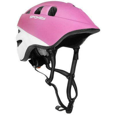 Dětská cyklistická přilba Spokey CHERUB IN-MOLD, 48-52 cm, růžovo-bílá, Spokey