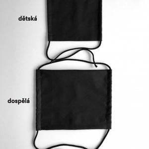 Jednobarevná bavlněná rouška KAMA s kapsou na filtr, Kama