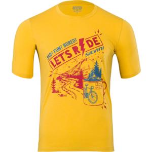 Pánské MTB triko Silvini Berici MD1614 yellow-merlot, Silvini