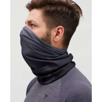 Jednovrstvý multifunkční šátek Silvini Motivo UA1730 black/grey, Silvini