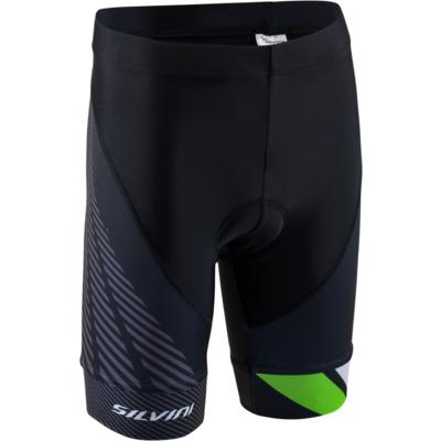 Dětské cyklistické kalhoty Silvini Team CP1436 black/green, Silvini
