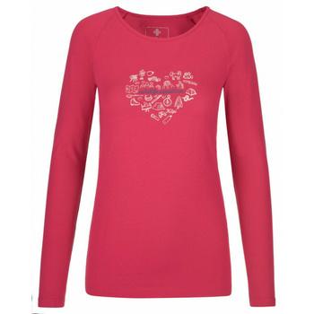 Dámské tričko s dlouhým rukávem Kilpi INA-W růžové, Kilpi